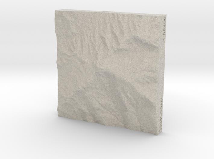 3'' Grandfather Mtn, N. Carolina, USA, Sandstone 3d printed