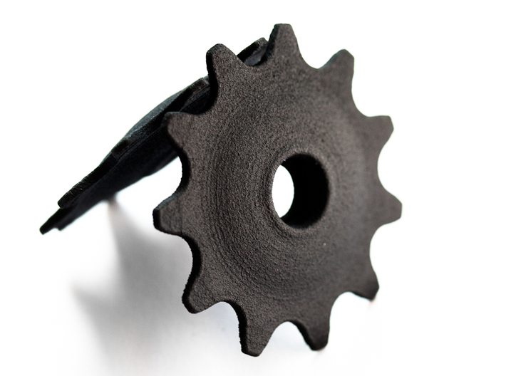 Pulley 11t for RD, hollow, flange (upper pulley) 3d printed
