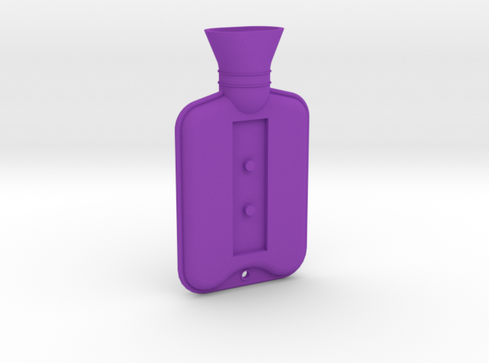 Hot Water Bottle Brooch 3d printed