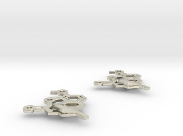 Oxycodone earrings 3d printed