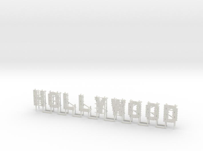 1-160 HollyWood Advertisement 3d printed
