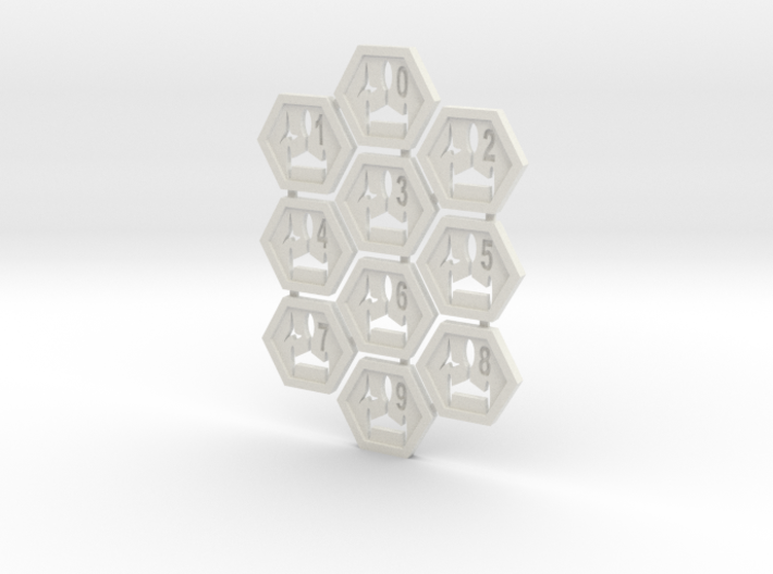 Klingy Hex Tiles 3d printed