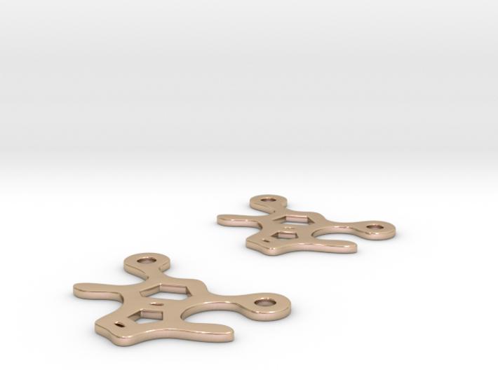 Theobromine earrings 3d printed