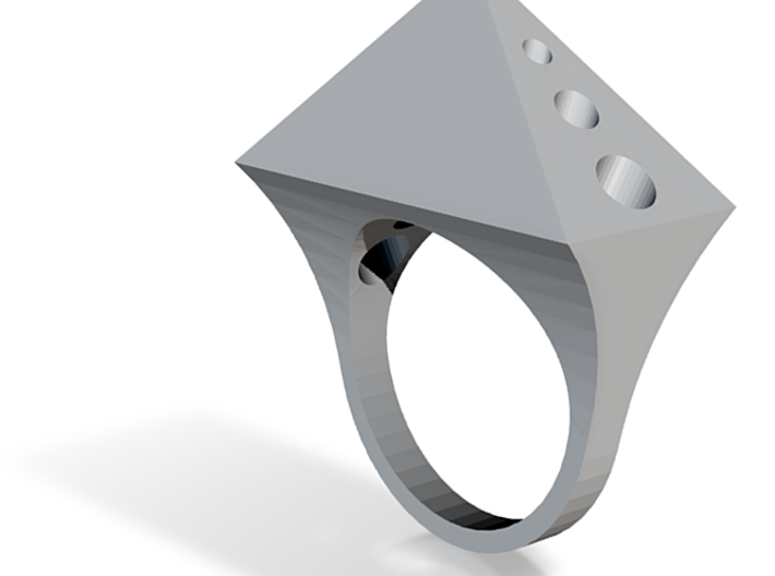 Spike Ring 3d printed