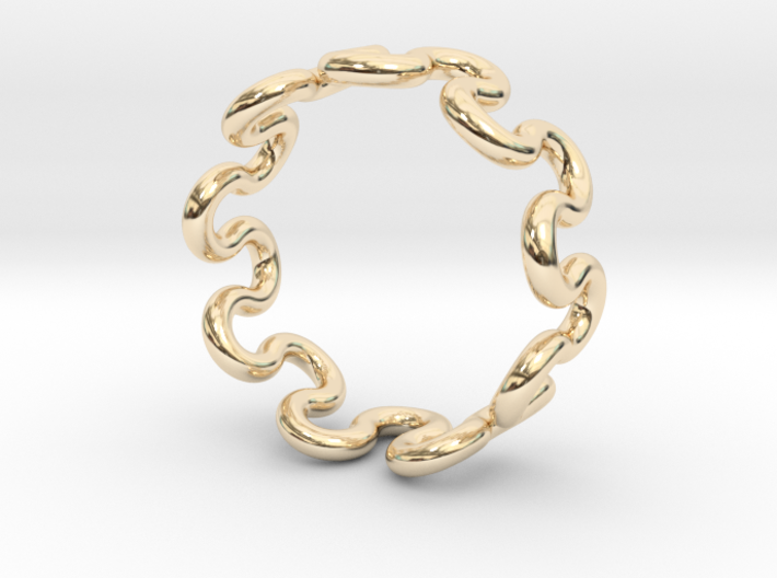 Wave Ring (21mm / 0.82inch inner diameter) 3d printed