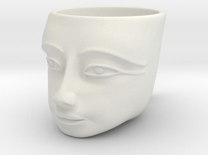 Tutankhamen Face on a Cup (Egyptian Pharaoh) 3d printed