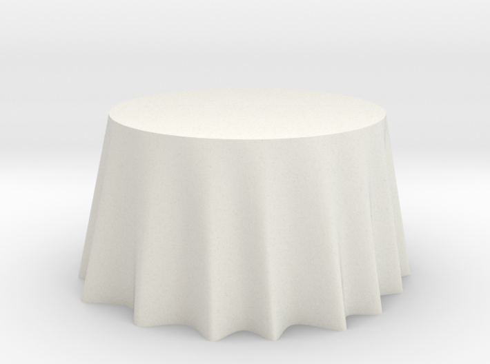 "1:24 Draped Table - 48"" diameter 3d printed"