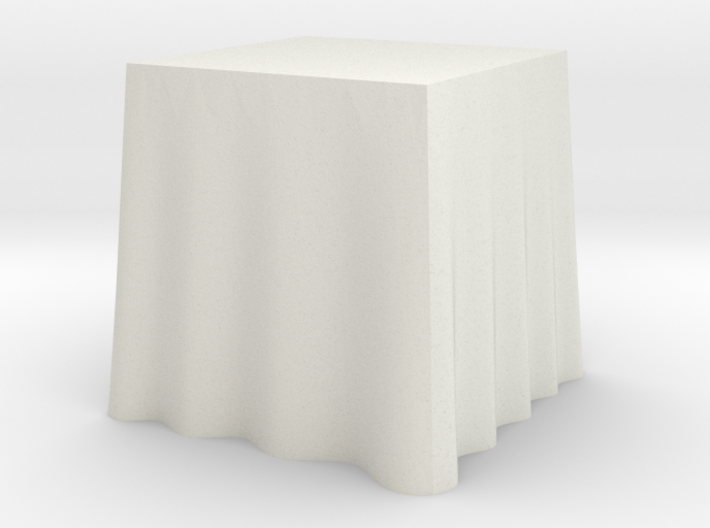 "1:48 Draped Table - 24"" square 3d printed"