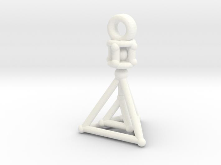 Jordan Custom Spinning Triangle KeyChain 3d printed