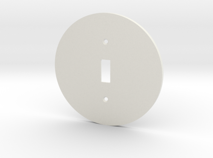 plodes® 1 Gang Toggle Switch Wall Plate 3d printed