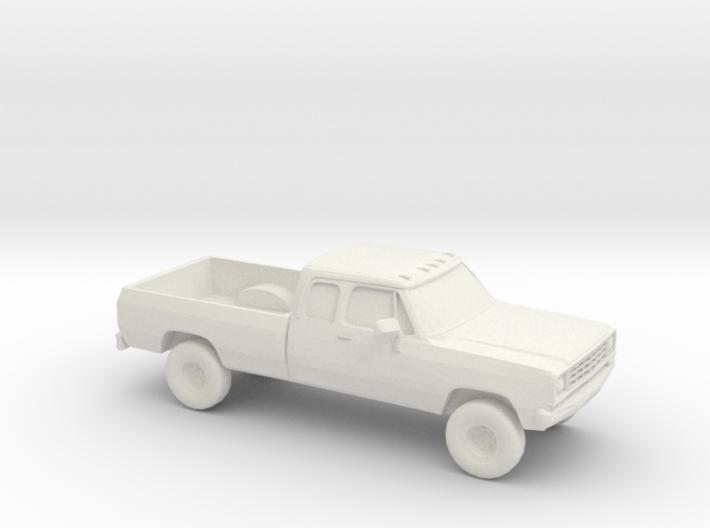 1/87 1972 Dodge Ram Ext. Cab 3d printed