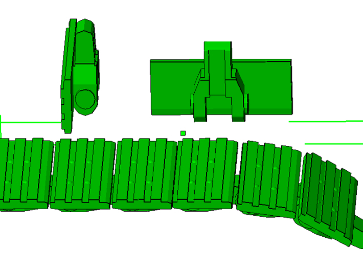 """1/87th Equipment track link set 3. 120 links 24"""" w 3d printed"""