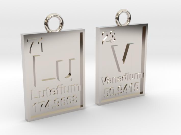 Chemical Luv Pendant 3d printed