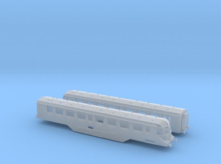 GWR - W35W&W36W - Twin Car Set - N - 1:148 3d printed