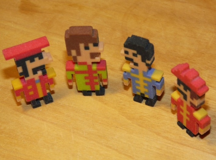 Beatles Paul iotacon (Sgt. Pepper) 3d printed