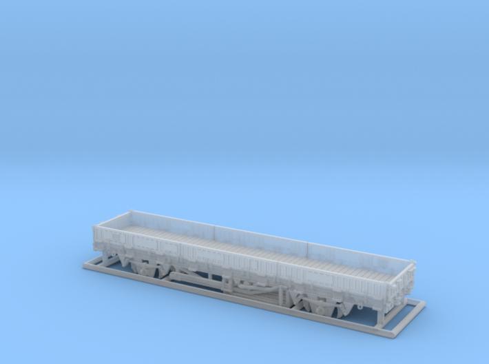 2102 1/160 Fährboot-Rungenwagen Rbmms 55 der DB 3d printed Modell lackiert, mit Zurüstteilen und Beschriftung
