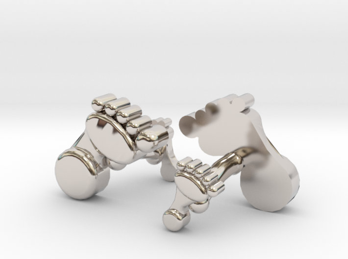 Dad And Baby Feet Cufflinks 3d printed