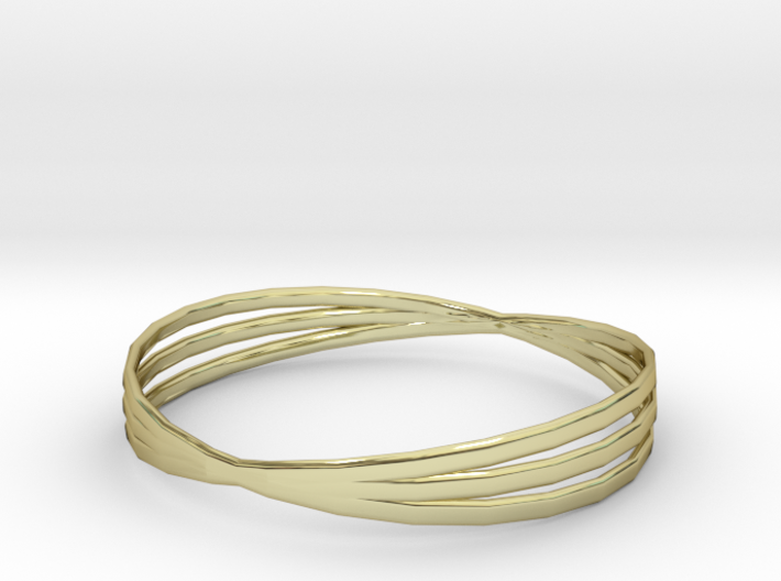 Bangle 3 Rings Size Medium 3d printed