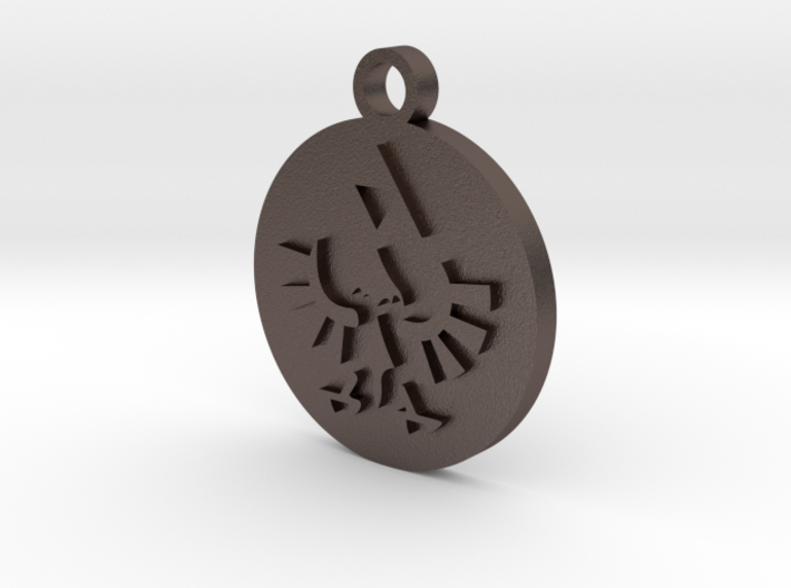 Legend of Zelda Hylian Crest Pendant Necklace 3d printed