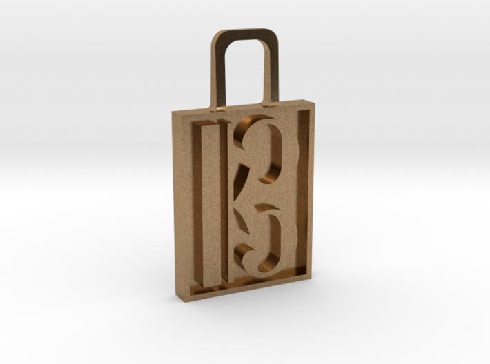Alto Clef Zipper Pull Version 2 3d printed