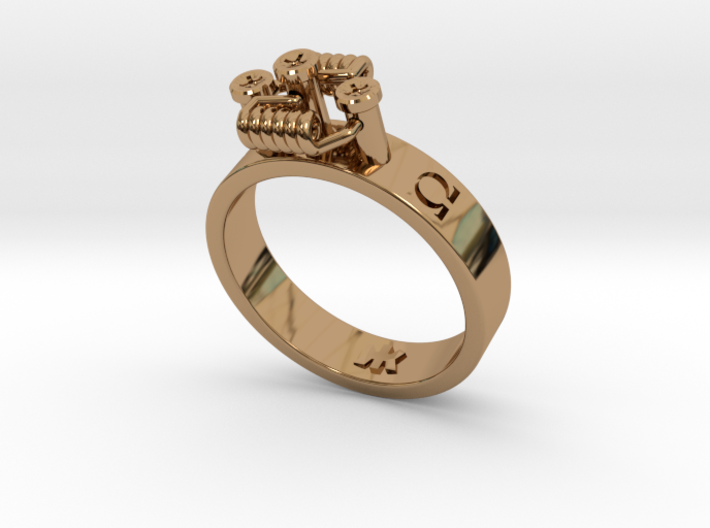 Simple RDA band ring sizes 5-15 3d printed