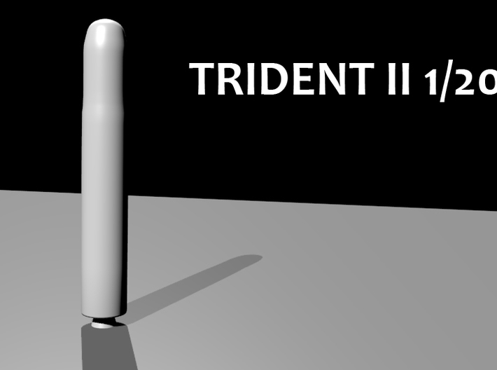 TRIDENT II D5 1/200th 3d printed