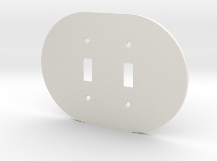 plodes® 2 Gang Toggle Switch Wall Plate 3d printed