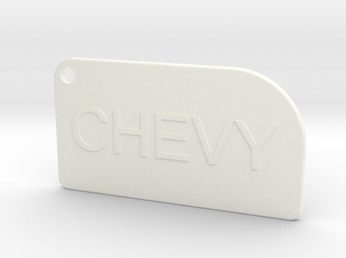 Chevy key chain 3d printed