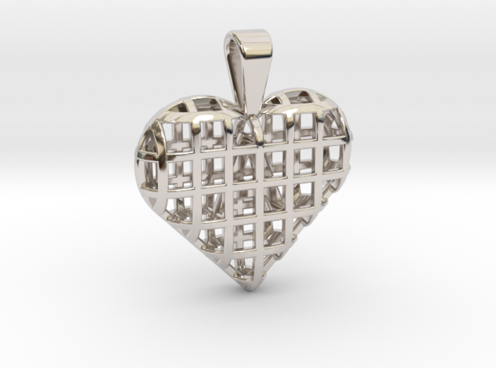 A letter in my heart [customizable] 3d printed