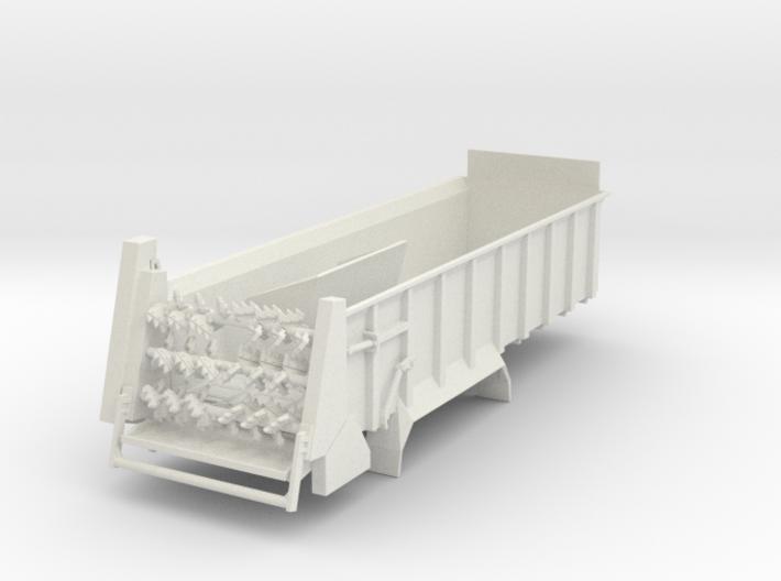 1/64 Manure spreader long frame- Horizontal beater 3d printed