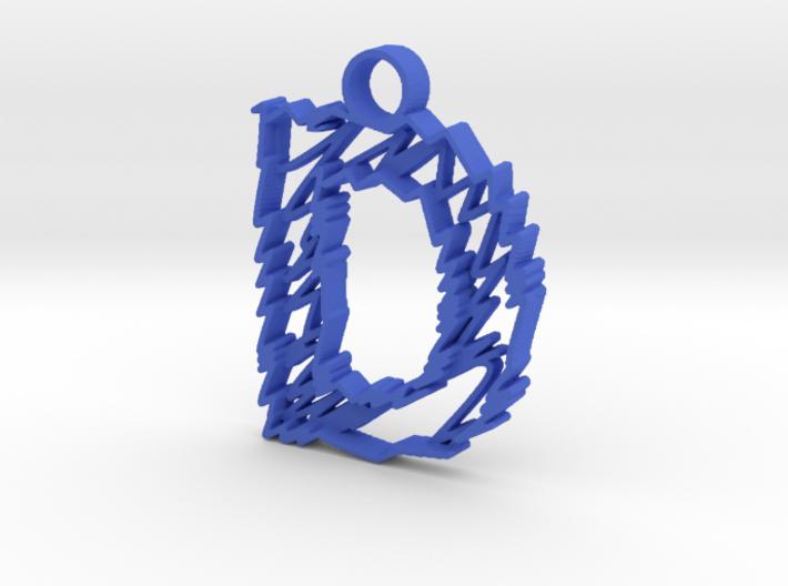 "Sketch ""D"" Pendant 3d printed"