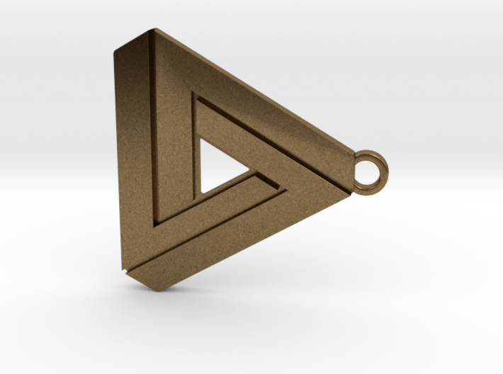 Penrose triangle hanger 3d printed