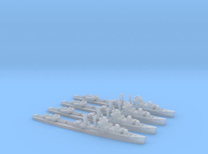 Farragut class destroyer (1/2400) x4 3d printed