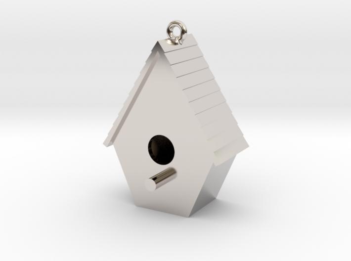 Birdhouse Pendant 3d printed