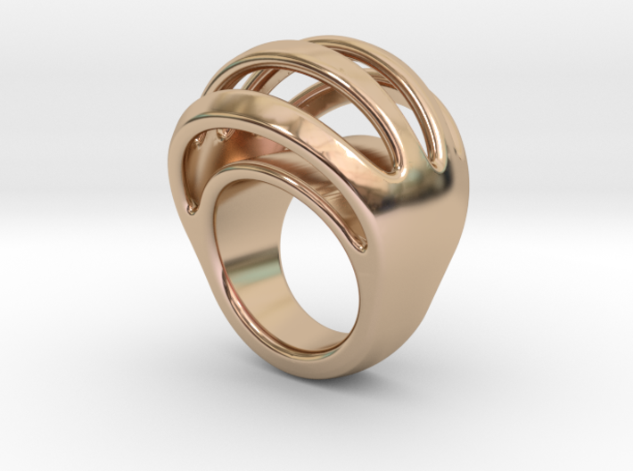 RING CRAZY 17 - ITALIAN SIZE 17 3d printed