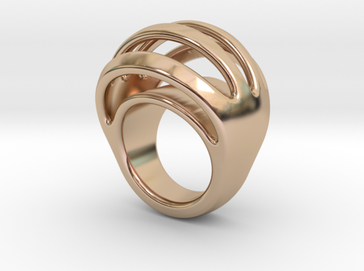 RING CRAZY 18 - ITALIAN SIZE 18 3d printed