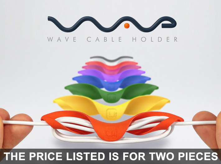 Wave Cable Holder - The smart cable organizer! 3d printed