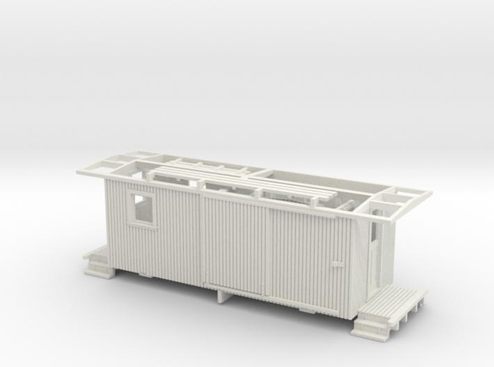 HOn3 Freelance Caboose (ex Boxcar) 3d printed