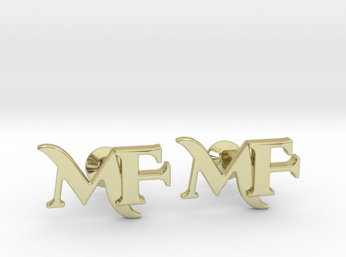 Monogram Cufflinks MF 3d printed