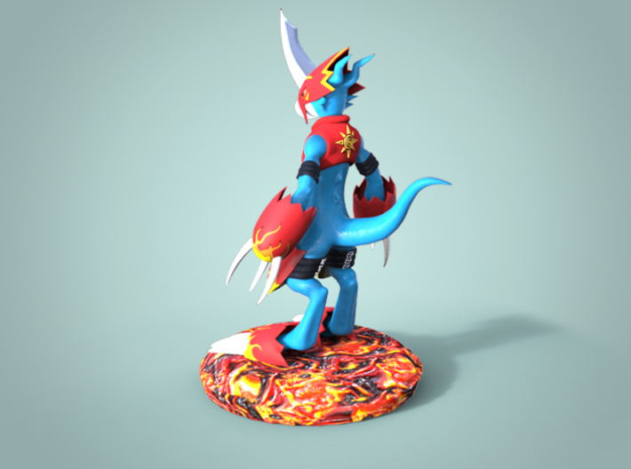 Flamedramon Sculpture (12 Cm Tall) 3d printed