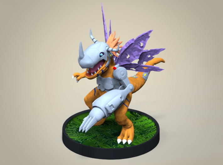 Metal Greymon Sculpture (12 Cm Tall) 3d printed