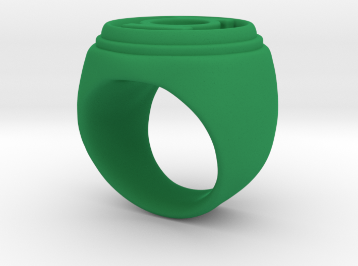 Green Lantern Ring - Size 6.5 3d printed