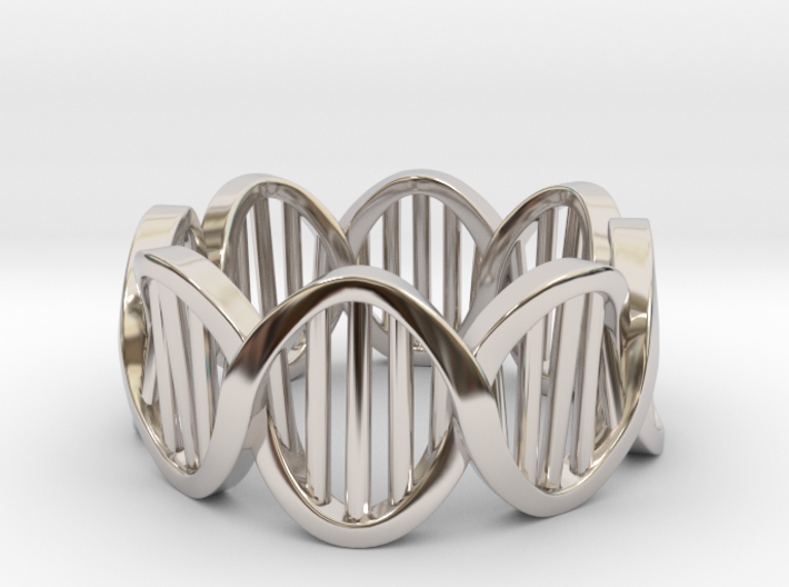 DNA Ring (Size 10) 3d printed