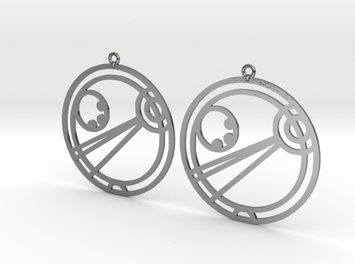 Angel - Earrings - Series 1 3d printed