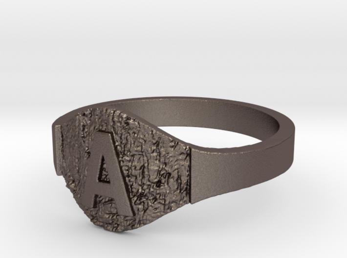 Textured Signet A 3d printed