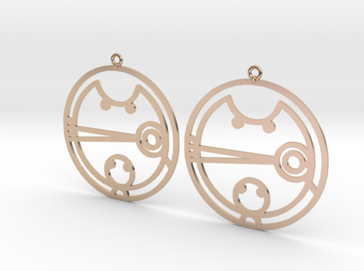 Camesha - Earrings - Series 1 3d printed