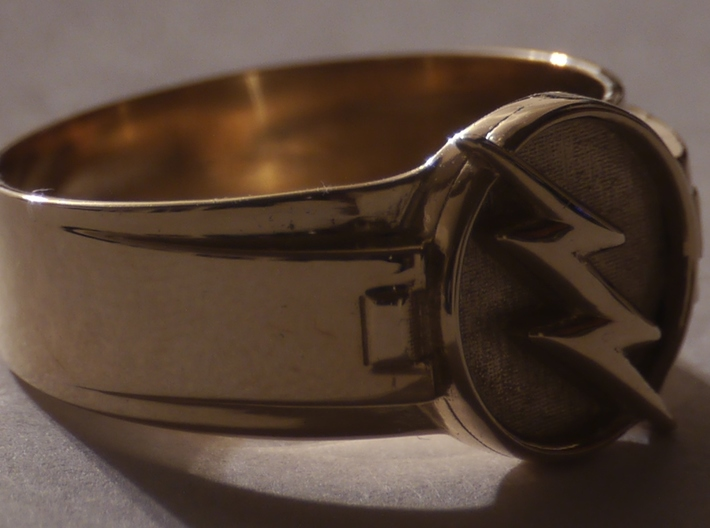 Reverse Flash Ring Size 9 19mm  3d printed