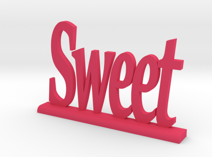 """Letters 'Sweet' 7.5cm / 3.00"""" 3d printed"""