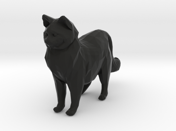 Ragdoll Kitty Toy Charm by Cindi (Copyright 2015) 3d printed Black Strong and Flexible