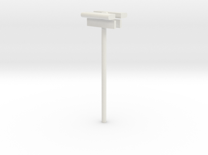 DSB Stations lampe (dobbelt) med stations skilt 3d printed